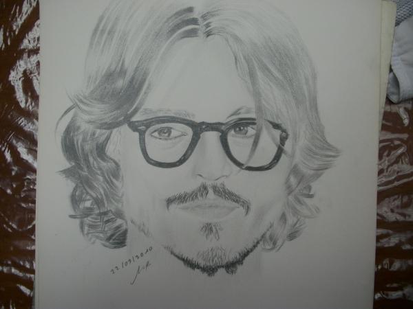 Stars portraits portrait de johnny depp par alae dessin - Dessin johnny depp ...
